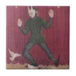 Figura antigua de la marioneta de Intermede de la  Teja Cerámica