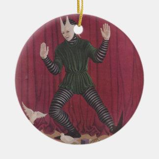 Figura antigua de la marioneta de Intermede de la Ornamentos Para Reyes Magos