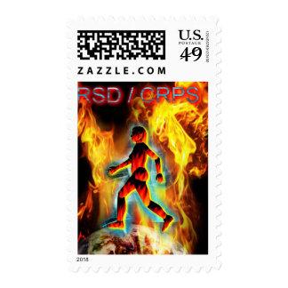 Figura ardiente de la conciencia de CRPS/de RSD en Envio