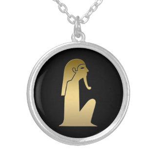 Figura asentada egipcio antiguo pendientes