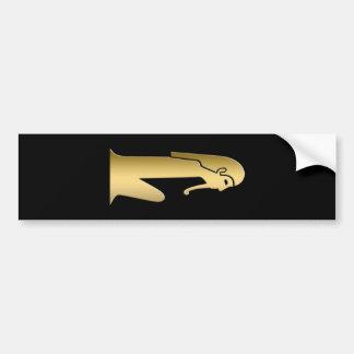 Figura asentada egipcio antiguo pegatina para auto