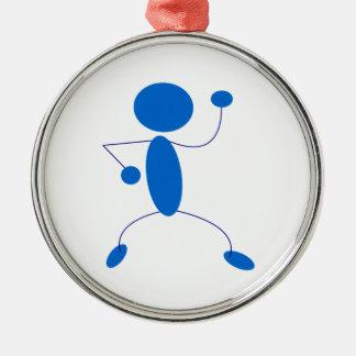 Figura azul baile del palillo adorno de navidad