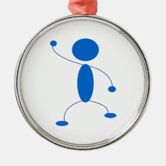 Figura azul baile del palillo adornos de navidad