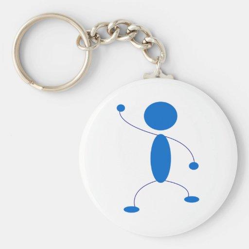 Figura azul baile del palillo llavero