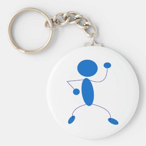 Figura azul baile del palillo llavero personalizado