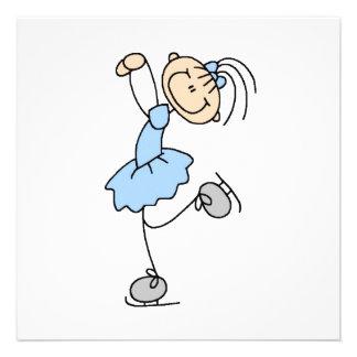 Figura azul camisetas y regalos del chica del pati anuncio personalizado