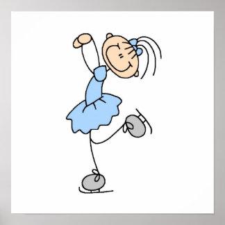 Figura azul camisetas y regalos del chica del pati póster