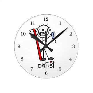 Figura básica dentista del palillo relojes