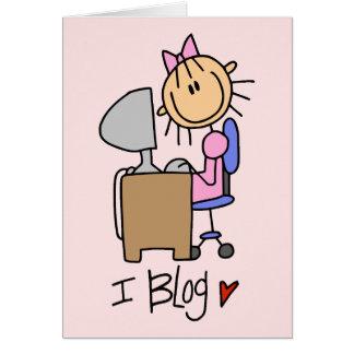 Figura Blogger del palillo del Internet Tarjeta Pequeña