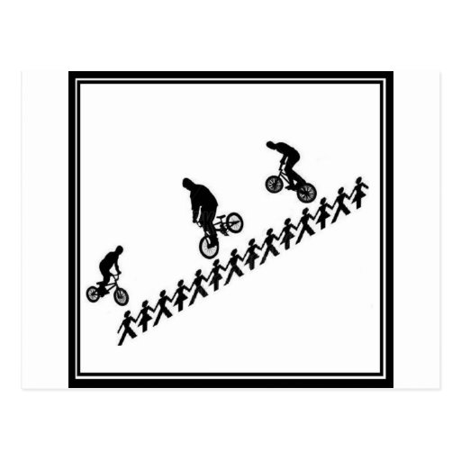 FIGURA BMX del palillo Tarjetas Postales