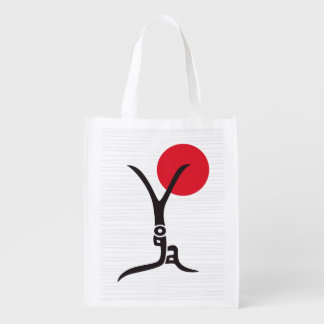 Figura bolso de la yoga de ultramarinos bolsas reutilizables