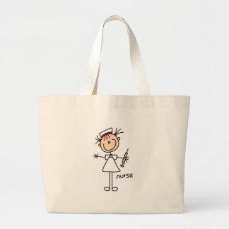 Figura bolso del palillo de la enfermera bolsa tela grande