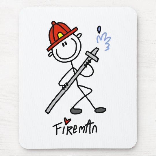 Figura bombero del palillo mouse pads