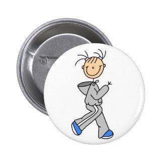 Figura botón corriente del palillo pin