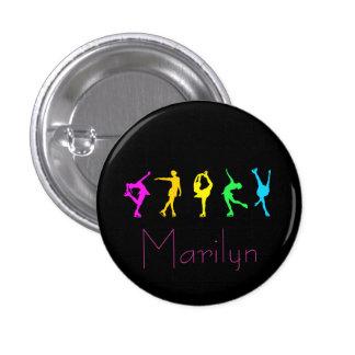 figura botón de neón del arco iris de los patinado pins