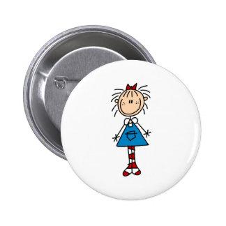 Figura botón del palillo de Annie Pin Redondo De 2 Pulgadas