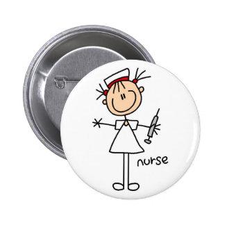Figura botón del palillo de la enfermera pin