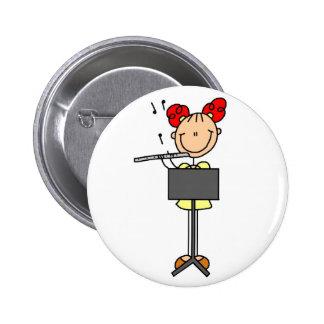 Figura botón del palillo de la flauta pin