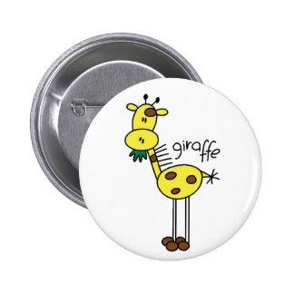 Figura botón del palillo de la jirafa pin redondo de 2 pulgadas