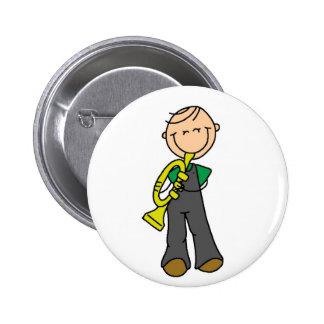 Figura botón del palillo de la trompeta pin