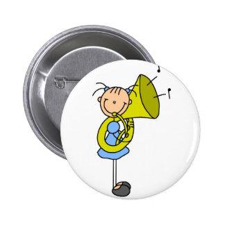 Figura botón del palillo de la tuba pin