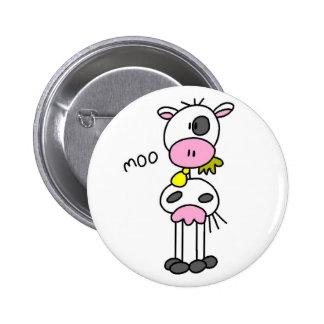 Figura botón del palillo de la vaca