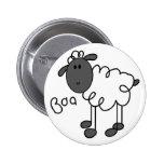 Figura botón del palillo de las ovejas pins