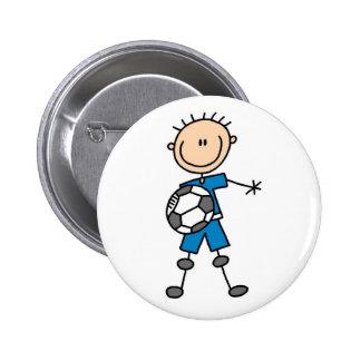 Figura botón del palillo del fútbol del muchacho