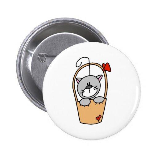 Figura botón del palillo del gato