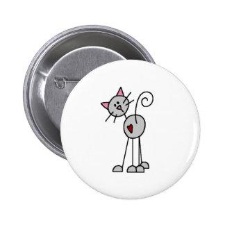 Figura botón del palillo del gato pin