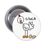 Figura botón del palillo del pollo pins