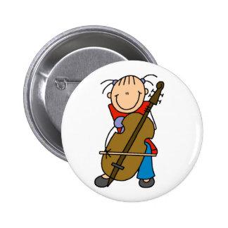 Figura botón del palillo del violoncelo pin