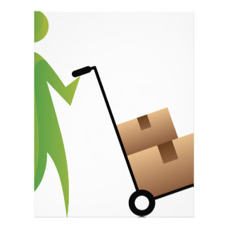 Figura cajas móviles Handtruck del palillo del Membretes Personalizados
