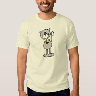 Figura camiseta del palillo del gato poleras