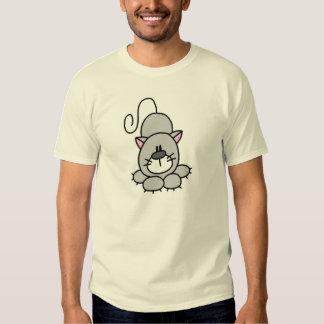 Figura camiseta del palillo del gato remera