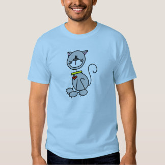 Figura camiseta del palillo del gato remeras