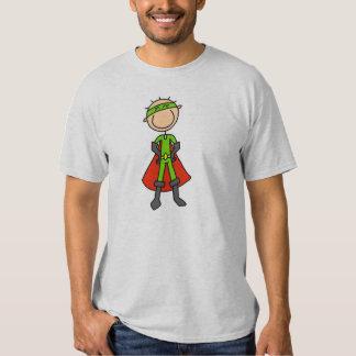 Figura camiseta del palillo del héroe playera