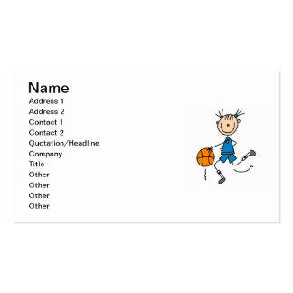 Figura camisetas del palillo del jugador de tarjetas de visita