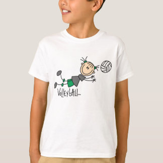 Figura camisetas del palillo del voleibol de los