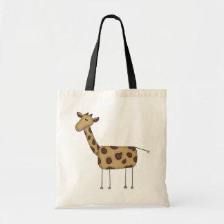 Figura camisetas y regalos del palillo de la jiraf bolsa de mano
