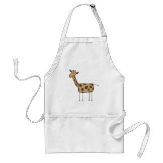 Figura camisetas y regalos del palillo de la jiraf delantal