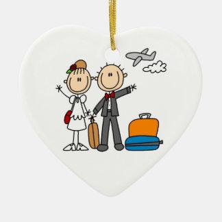 Figura camisetas y regalos del palillo de la luna adorno de cerámica en forma de corazón