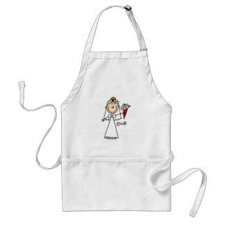 Figura camisetas y regalos del palillo de la novia delantal