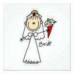 Figura camisetas y regalos del palillo de la novia comunicados personales