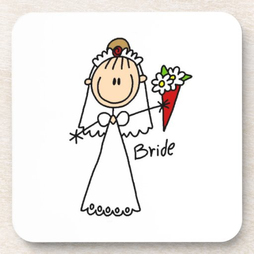 Figura camisetas y regalos del palillo de la novia posavaso