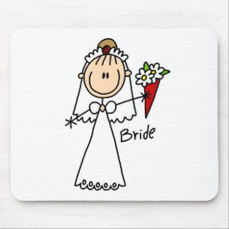 Figura camisetas y regalos del palillo de la novia tapete de ratones