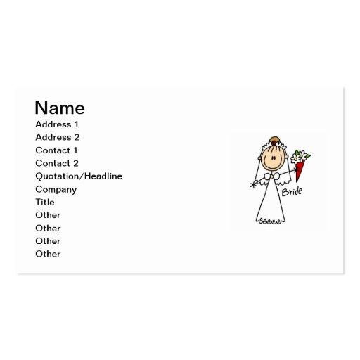 Figura camisetas y regalos del palillo de la novia tarjeta personal