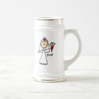 Figura camisetas y regalos del palillo de la novia jarra de cerveza