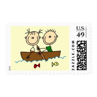 Figura camisetas y regalos del palillo de la pesca sello
