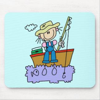 Figura camisetas y regalos del palillo de la pesca alfombrillas de ratón